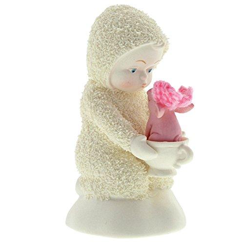 """Department 56 Snowbabies """"A Teacup Pig"""" Porcelain Figurine, 4"""" - Porcelain Teacup Ornament"""