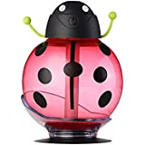XDOBO Beatles Cool Mist Humidifier,260ml Mini Mist Humidifier with beatles shape,Mini USB Portable Air diffuser Purifier Atomizer with LED Light,360 Degree Rotation (Red)