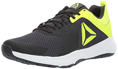 Reebok Men's Edge Series TR Cross Trainer, Coal/Solar Yellow/White, 7.5 M US ()