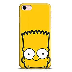 Loud Universe The Simpsons Face iPhone 7 Case Bart Simpson Face iPhone 7 Cover with 3d Wrap around Edges