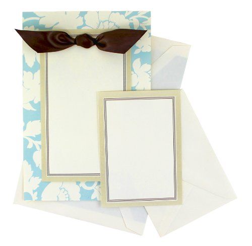 ALWAYS ANNA Blue Floral Invitation Kit 25-Count