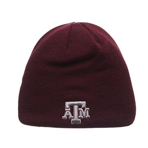 ZHATS Texas A&M Aggies Edge Skull Cap - NCAA Cuffless Winter Knit Beanie Toque Hat ()