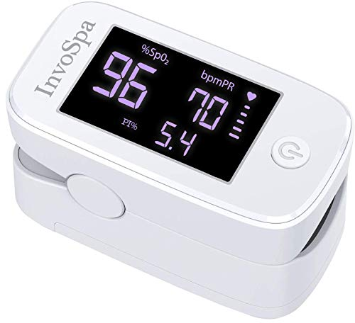 Pulse Oximeter Fingertip - Saturation Oxygen Monitor Fingertip (SpO2) for Adults - Finger Pulse Oximeter for Heart Rate Measurements - Portable Oxygen Meter - Oximetro with Batteries
