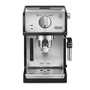 De'longhi ECP35.31 – Cafetera espresso, 1100w, capacidad 1,1l, café molido y monodosis para 2 tazas, negro y plata 41LhM6MeEvL