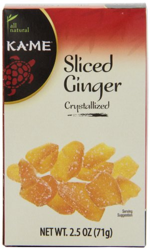 Ka-Me Crystallized Ginger, Sliced, 2.5 Ounce Boxes (Pack of 12) by Ka-Me