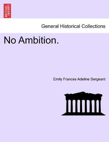 No Ambition. ebook
