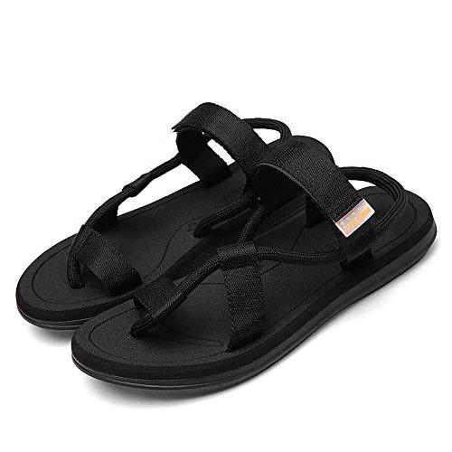 Spiaggia Infradito Sandali Pantofole Ciabatte Uomo nero Donne Elastico Coppia Piatto Vilocy Cinghia Casuale Slittata Sandali Anti z6BwnPqU