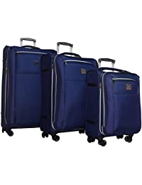 """Megalite X-Weave 8 Wheel Expandable 3-Piece Luggage Spinner Set: 29"""", 25"""", and 21"""""""