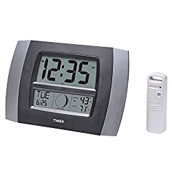 Timex 75331T Atomic Digital Clock with Temperature, Moon Phase & Calendar, 11.5