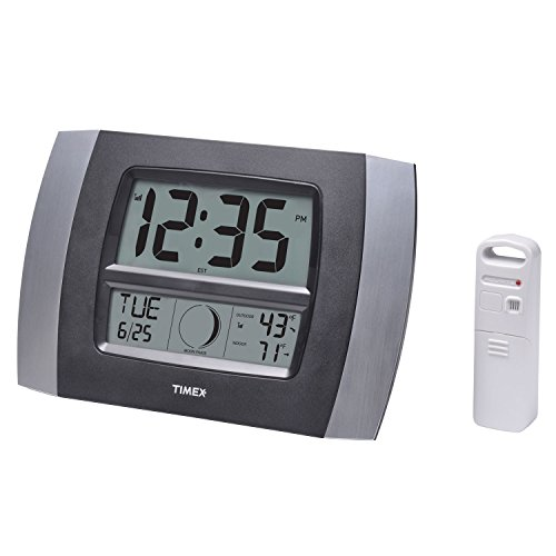 Timex 75331T Atomic Digital Clock with Temperature, Moon Pha