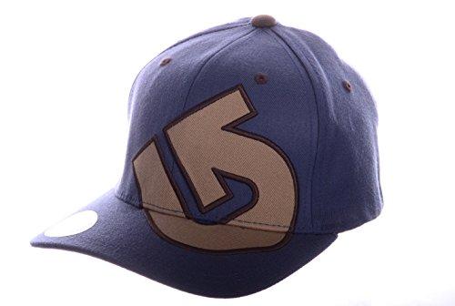 Burton Slidestyle Flex Fit Cap in Medium Blue with Brown Embroidered Logo - SIZE S/M