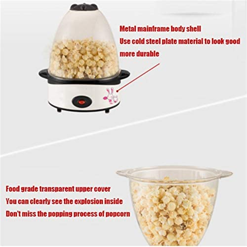 Draagbare Machine van de Popcorn, Gezondheid van het huis, 500W Kleine Elektrische Popcorn Machine, gezonde zelfgemaakte hapjes, kan zetten Olie En Suiker Kruiden (rood)
