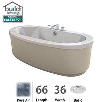 Jacuzzi BRF6636ACX2XXW White Bravo 66u0026quot; X 36u0026quot; Freestanding PureAir  ...