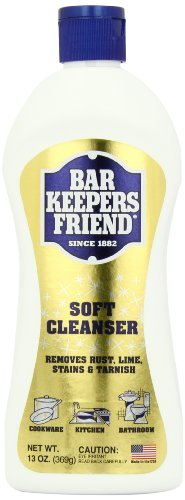 Discount Travertine Tiles - Bar Keepers Friend Soft Cleanser Premixed Formula | 13-Ounces | (4-Pack)
