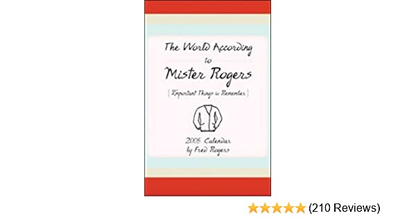 Amazon.com: The World According to Mister Rogers: Important ...