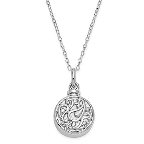 925 Sterling Silver Tear In Circle Ash Holder 18 Inch Chain Necklace Pendant Charm Inspirational Fine Jewelry Gifts For Women For Her