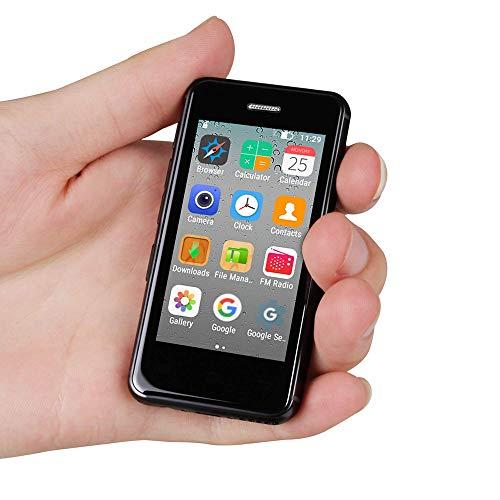 Mini Smartphone Android Unlocked Phone 2.5″ Quad Core 1GB 8GB Android 6.0 Super Ultrathin Mini Mobile Phone Melrose S9X Small Smart Phone (Black)
