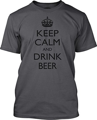 Big Texas Keep Calm and Drink Beer (Black) Fine Jersey T-Shirt, Concrete, XL