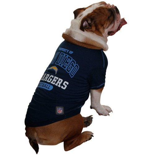Pets First NFL San Diego Chargers T-Shirt, Medium, My Pet Supplies