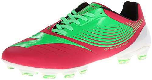 14 Firm Ground Soccer Shoes - Diadora Soccer DD-NA GLX14 Soccer Cleat,Flourescent Green/Virtual Pink,11.5 M US