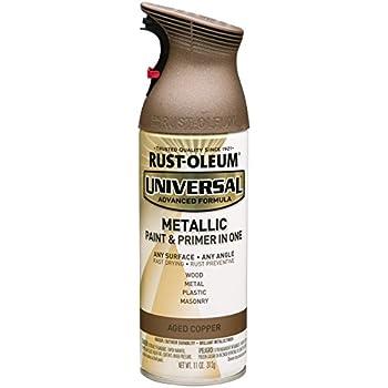 Rustoleum 249132 Universal Metallic 11 oz Spray Paint, Aged Copper