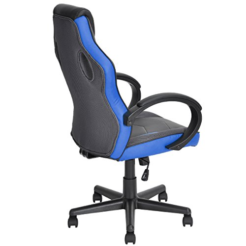 41LhR0xHQXL - FurnitureR-Racing-Chair-Ergonomic-Executive-Swivel-Leather-Office-Chair-Racing-Style-Task-Gaming-Chair-High-back-Computer-Support-Chair