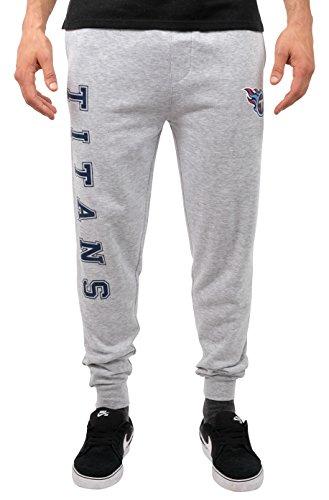 NFL Tennessee Titans Men's Jogger Pants Active Basic Fleece Sweatpants, X-Large, Gray -