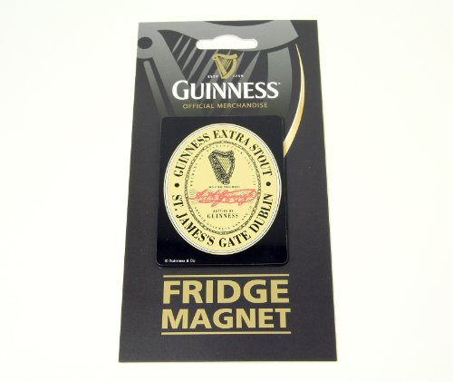 Guinness Metal Fridge Magnet with Extra Stout Label (Stout Extra Label)