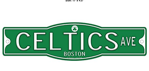 Boston Celtics Basketball Plastic 4 x 17 Street Sign by WinCraft