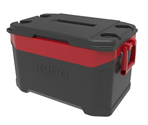 Igloo New (Igloo Latitude 50 quart Cooler, Jet Carbon Red)