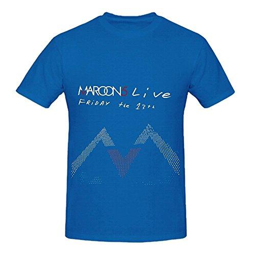 Cheap  Maroon 5 Friday The 13th Funk Mens O Neck Music Shirts Blue