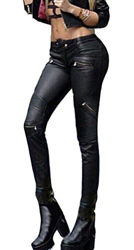 Taille noir Slim Ghope 42 36 Simili Fit 44 Skinny 38 Jean 34 up 40 Push Pantalon Femme Cuir Noir Sexy XwwrTFq7P