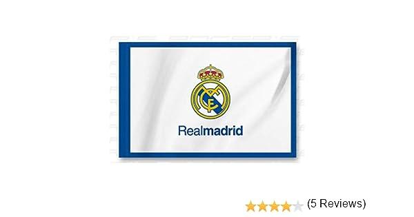 Bandera Real Madrid Blanca -Azul 150x100 cm: Amazon.es: Deportes y ...