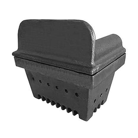 Brasero de hierro fundido para estufa de pellets, 129 mm de altura, boca de 151 x 125 mm, chapa de 6 mm: Amazon.es: Hogar