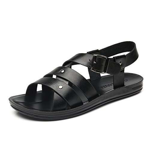 Faranzi Mens Sandals of Gladiator Style Leather Open Toe Outdoor Strap Heel Sandals Fashion Casual Comfortable Sandals for $<!---->