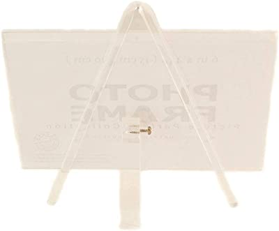 6x4 Clear Acrylic Photo Frame with Stand 6x4 self Standing Picture Frame (1, Clear)