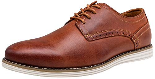 VOSTEY Men's Leather Dress Shoes Casual Oxford Shoes for Men