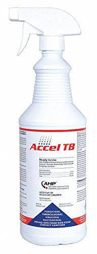 Cleaner and Disinfectant, Bottle, PK12 by ACCEL