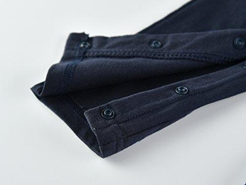 Baby Boys Gentleman Romper Bow Tie Jumpsuit Dressy Outfit 3m-24m (70(3-6m), Suspender)
