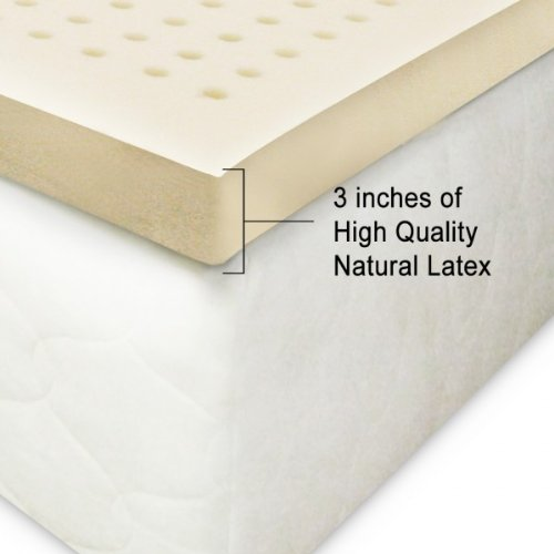 """100% Natural Latex Topper 3"""" Firm King Size"""