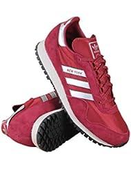 Adidas Men New York Trainers (burgundy / metallic silver / mystery red)