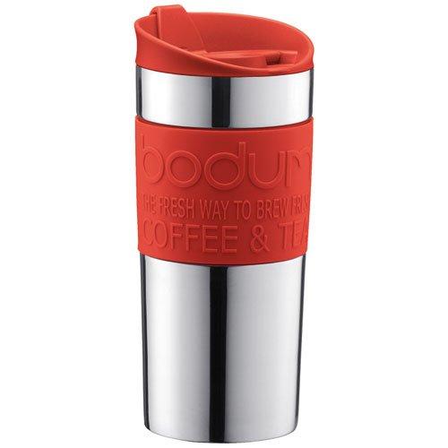 31 opinioni per Bodum 11068-01, Travel Mug, Mug da viaggio, small, 0,35 L, colore: Rosso