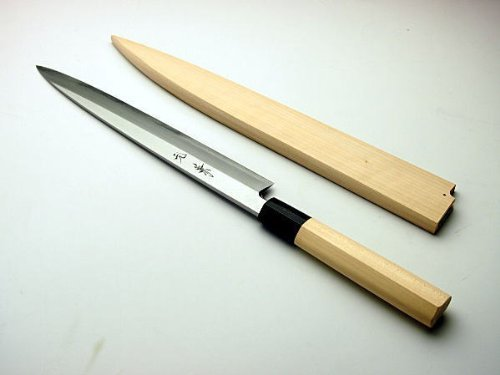HONMAMON-MOTOKANE-Sashimi-Hocho-Yanagiba-Kitchen-Knife-180mm-abt-71-Inch-for-Right-Hander-Blade-Edge-Shirogami-Steel