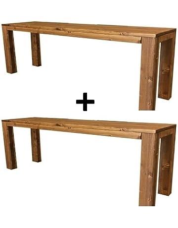 2X Banco de madera para jardín interior exterior 100x38.5x50H DISPONIBLE TANBIEN A MEDIDA