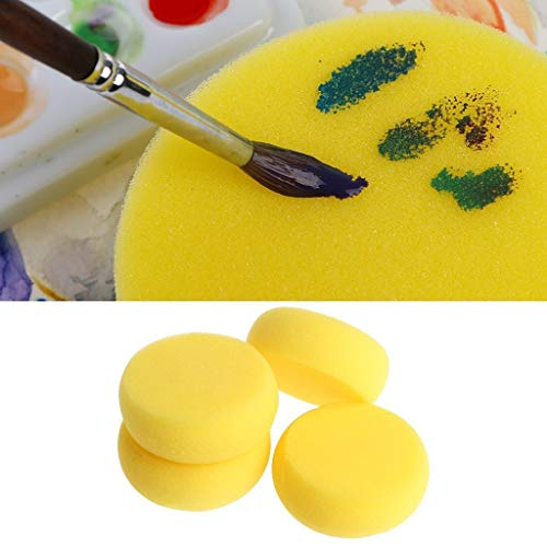 Amrka Round Sponge Brushes For Painting Art Drawing Craft Clay Pottery Sculpture Cleaning Tool (5Pcs) by Amrka (Image #8)
