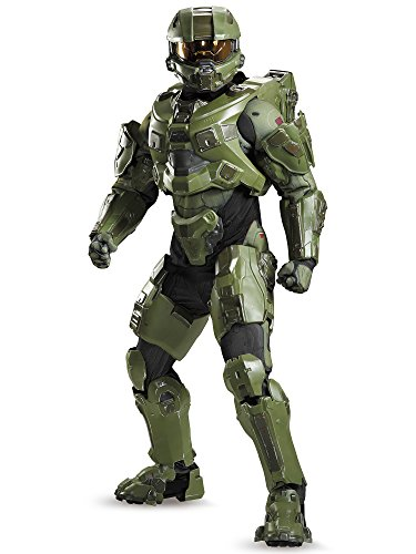 Disguise Men's Halo Master Chief Ultra Prestige Costume, Green, Medium]()