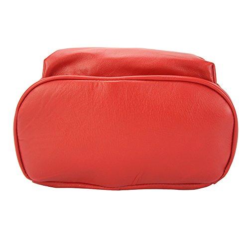 Market Carola Leather Becerro 9010 Claro Florence En Mochila Piel De Rojo 5OBxnWx