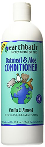 Earthbath Oatmeal and Aloe Conditioner, Vanilla & Almond, 16-Ounce