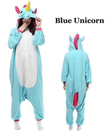Unisex Adult Onesie Animal Kigurumi Unicorn Cosplay Halloween Pajamas Costume (S(Fit height:59