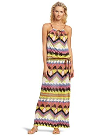 D.E.P.T. Women's Eclectic Jersey Maxi Dress, Celadon Green, Small